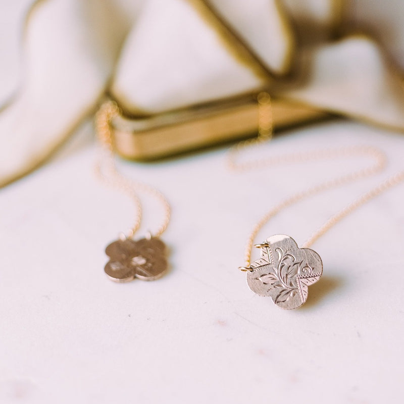 Lucky Clover Cufflink Necklaces