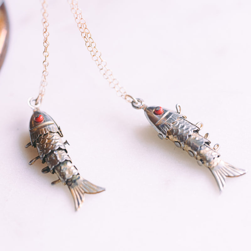 Vintage Lucky Fish Necklace