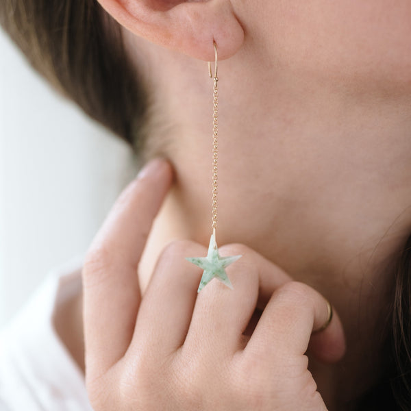 Aventurine Celestial Tassel Earrings