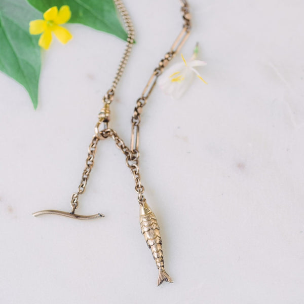 Lucky Fisherman's Toggle Necklace