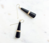 Gold + Onyx Earrings