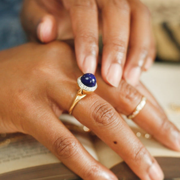 Celine Lapis Diamond Ring