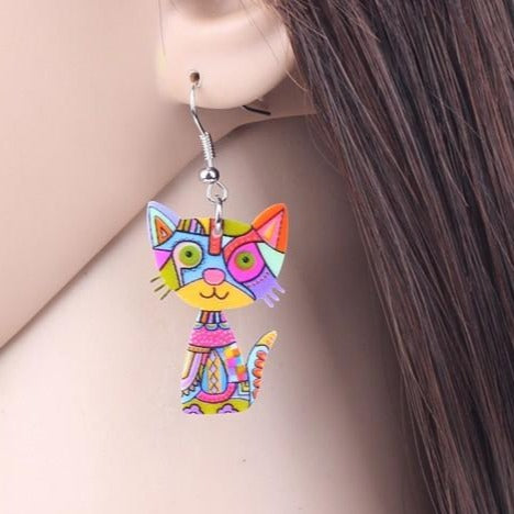 FUNKY CAT EARRINGS