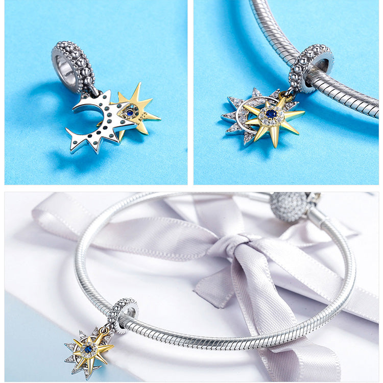 PLANET AND STAR CHARMS