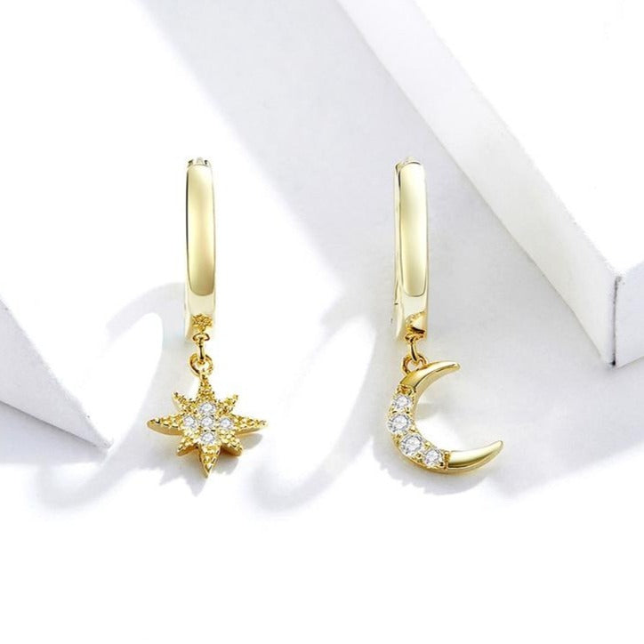 STAR AND CRESCENT MOON EARRINGS