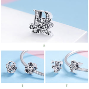 SILVER LETTER CHARMS