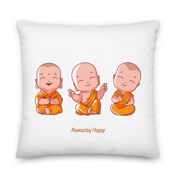 Happy Buddha-Premium Pillow