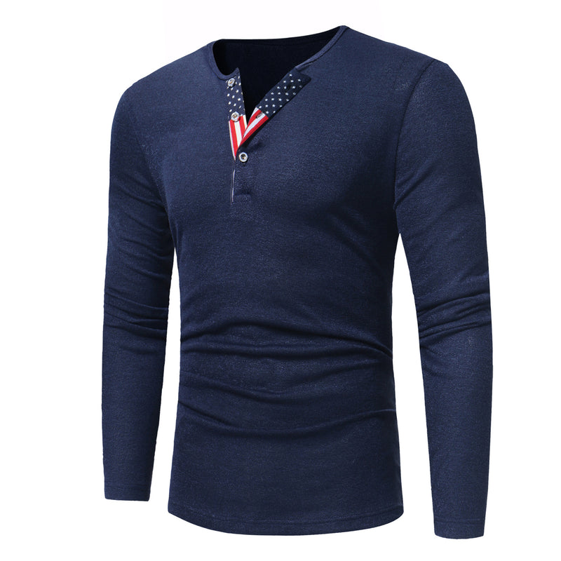 Men V-Neck Printed Knitted Sweater