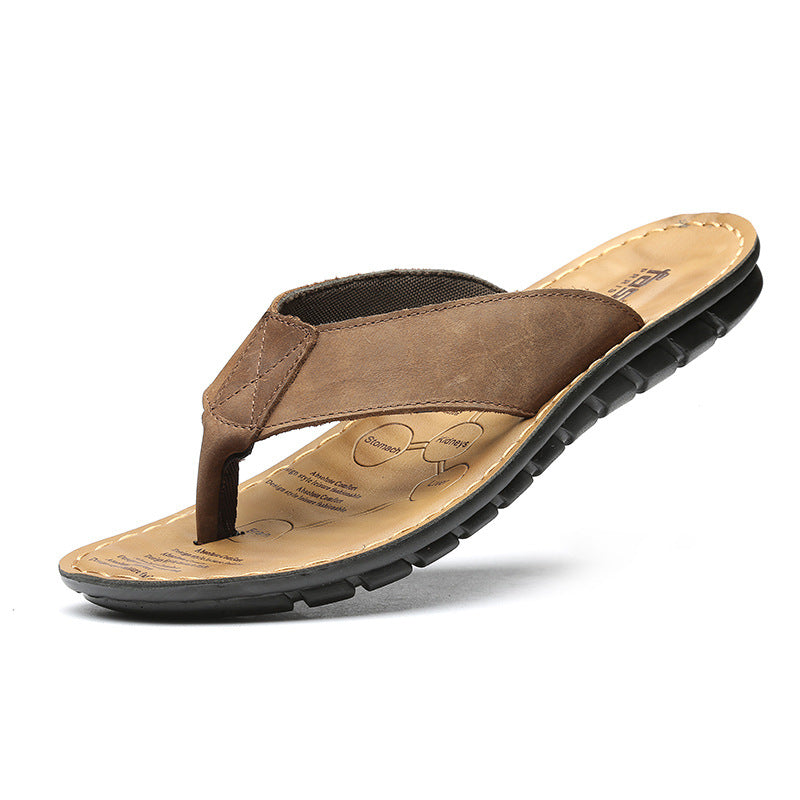 Men Beach Flip Flops Slippers Anti-Skid Outside Sandal