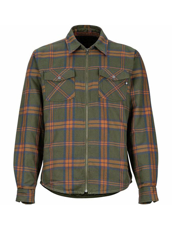 Men  Plaid Print Lapel Shirt