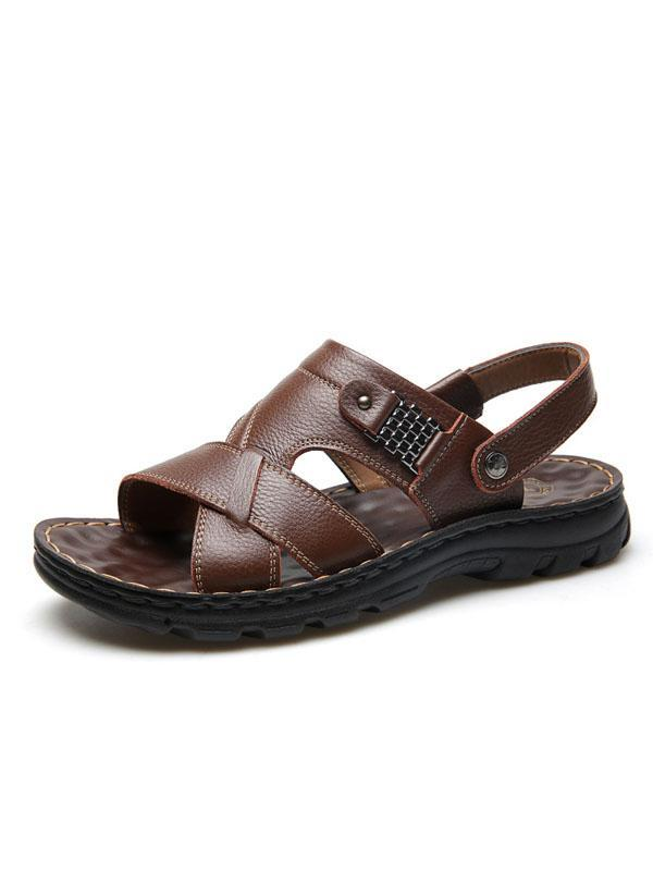 Solid Flat Casual Beach Simple Sandal