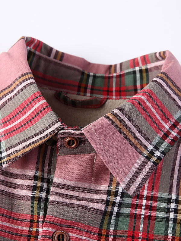 Lamb Cashmere Printed Casual Plaid Retro Shirt