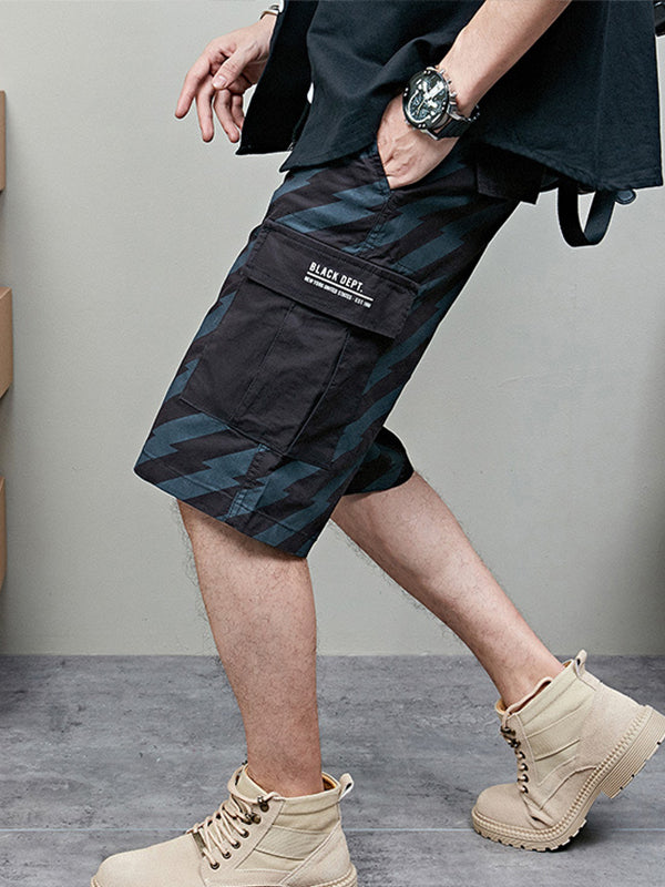Men's Printed Sport Loose Casual Shorts