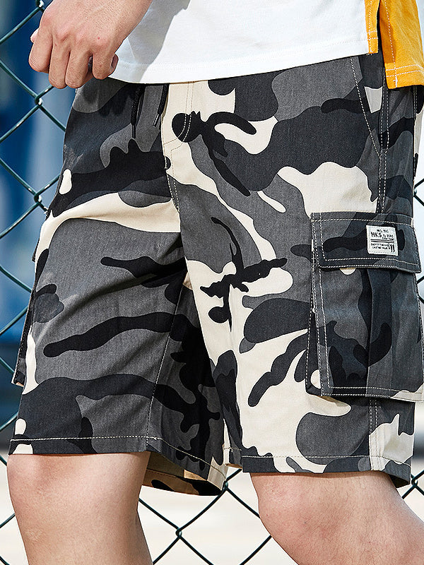Men Camouflage Casual Overalls Casual Shorts