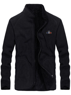 Men Plus Fleece Casual Jacket