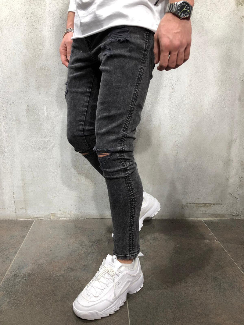 Men Ripped Stretch Jeans