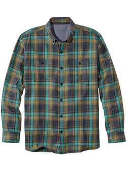 Men's Plaid Long Sleeve Simple Shirt