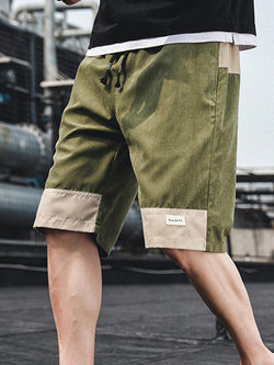 Men Casual Sports Loose Overalls Shorts
