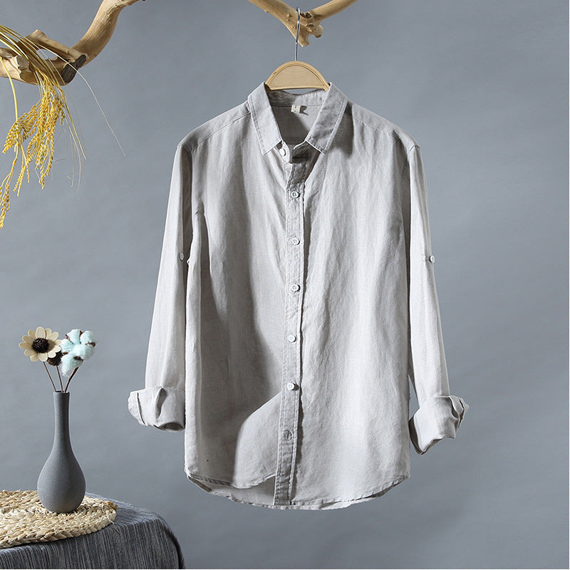 Men Casual Sunscreen Breathable Long-Sleeved Shirt