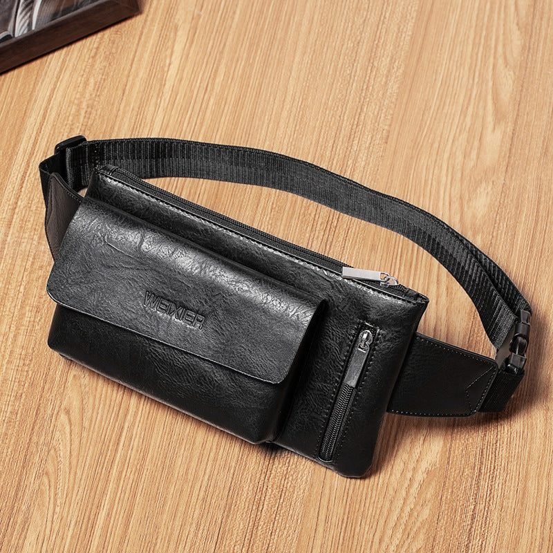 Multi-Pocket Zipper Simple Crossbody Bags