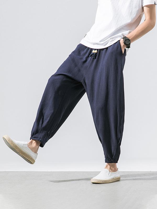 Men Loose Wide Leg Casual Pants
