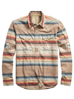 Men's Striped Casual Long Sleeve Shirt