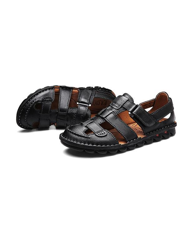 Men Hollow Buckle Casual Sandal