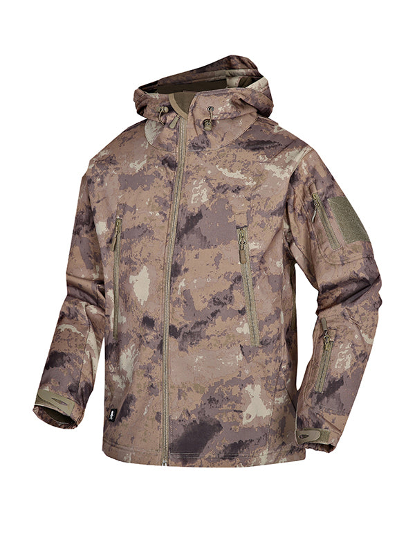 Men Camouflage Print Casual Jacket