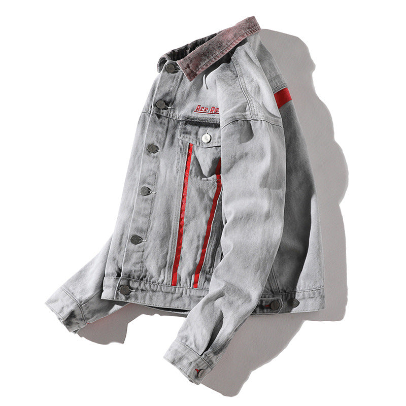 Men Patchwork Lapel Casual Jacket