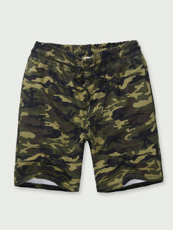 Men Camouflage Printed Casual Pants Shorts