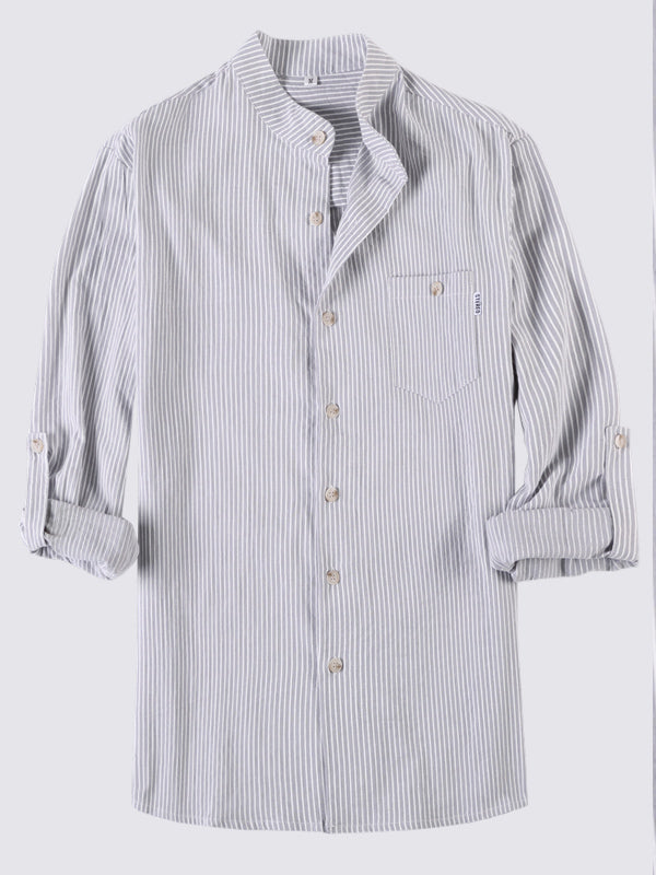 Men Striped Long Sleeves Striped Shirt