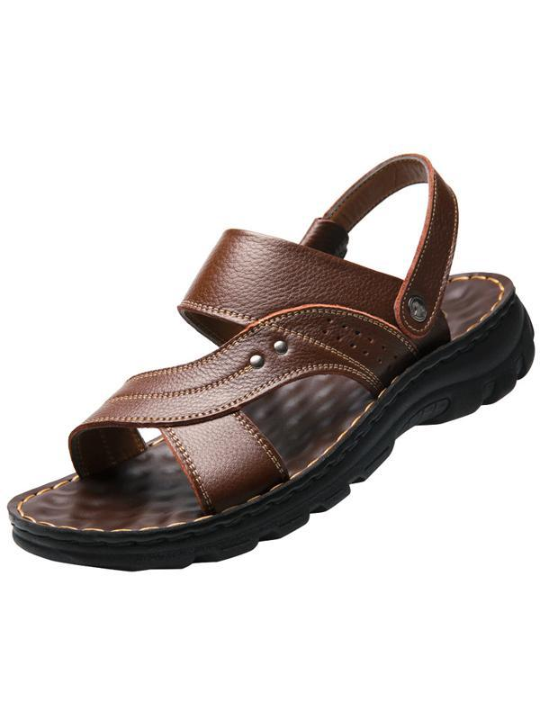 Mens Casual Solid Platform Sandals