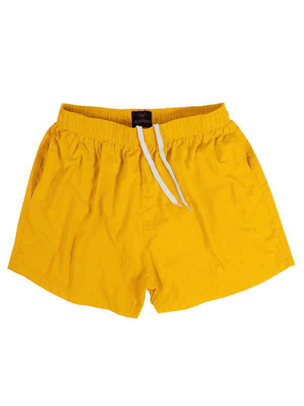 Men Solid Simple Casual Shorts Summer Beach Straight Leg Swimming Trunks