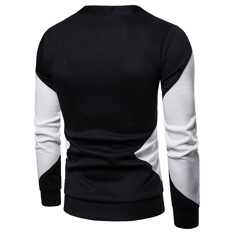 Men Casual V-Neck Color Block Sweater