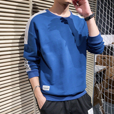 Men Color-Block Pullover Hoodie