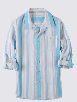 Men Casual Long Sleeves Striped Shirt