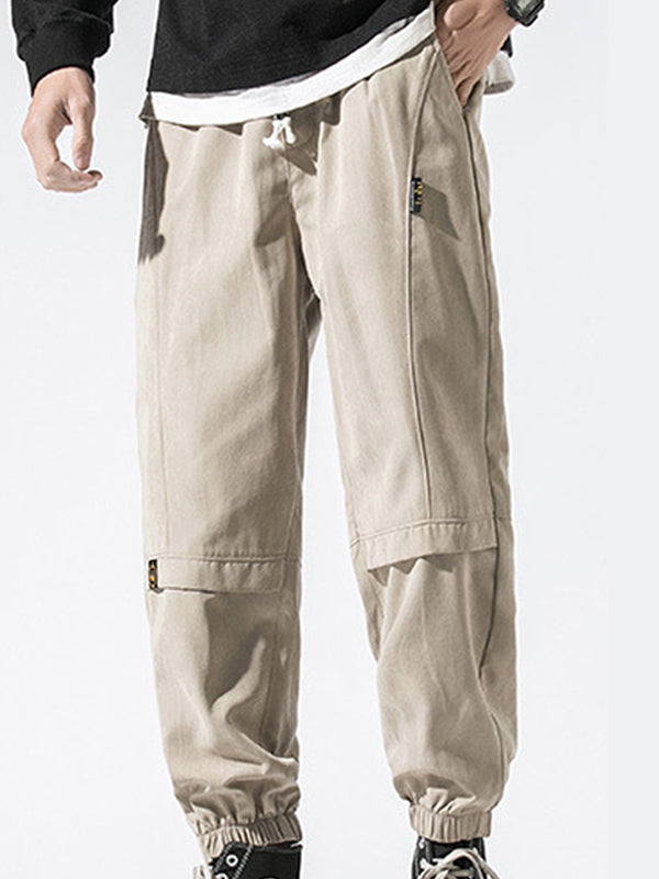 Men Solid Breathable Casual Harem Pant