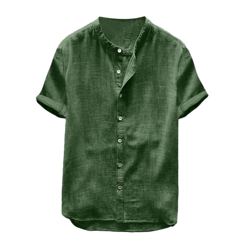 Men Casual Solid Single Breasted Shirt