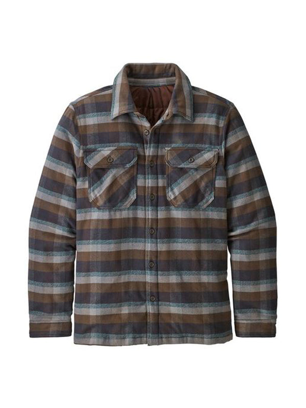 Men Retro Lapel Plaid Casual Shirt