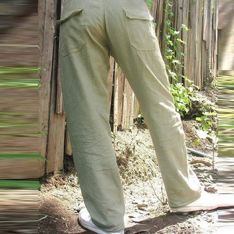 Men Solid Straight Leg Pants
