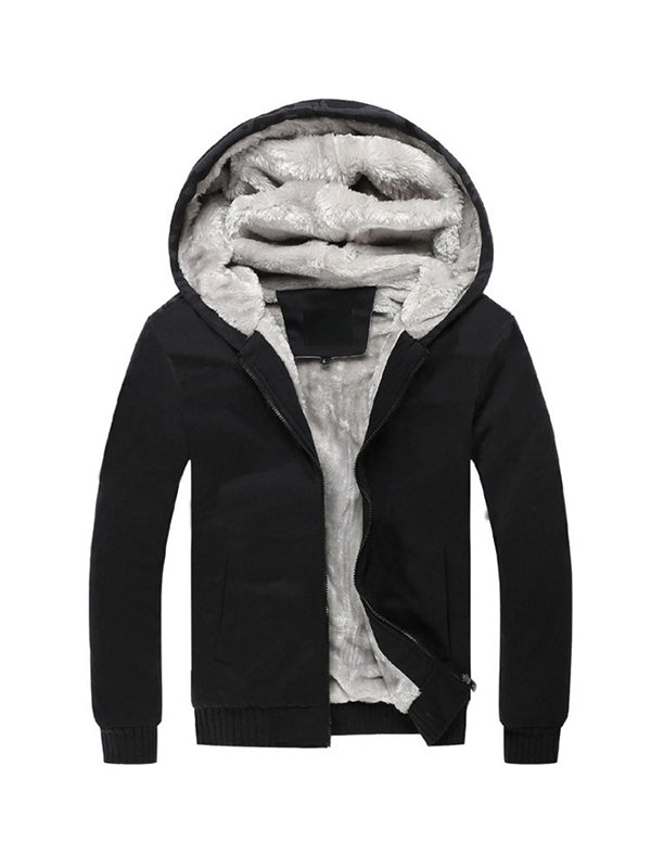 Men Thick Hooded Sports Coat