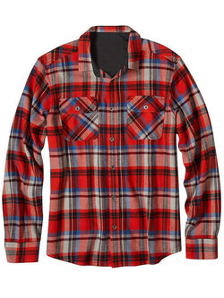 Men's Simple Vacation Going Out Plaid Long Sleeve Shirt
