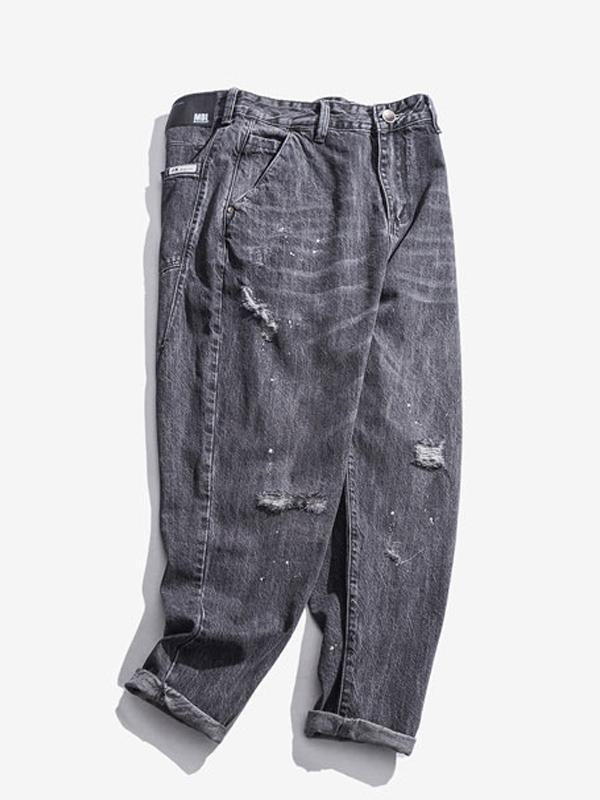 Men's Loose Straight Leg Denim Pants