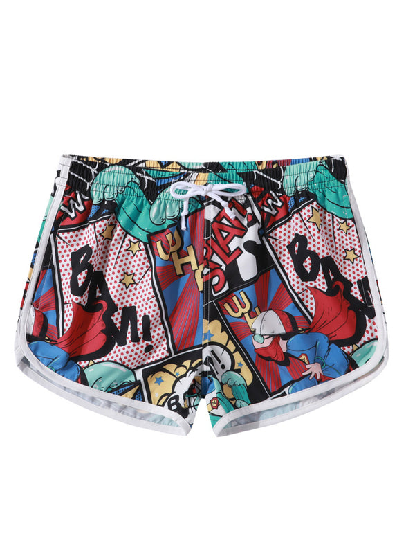 Summer Vacasion Couple Fun Printed Swimming Trunks