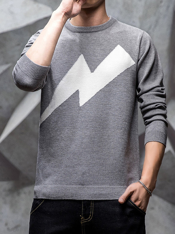 Men's Slim Round Neck Sweater