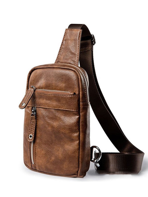 Casual Multi-Pocket Zipper Crossbody Bags