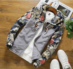 Men's Printed Casual Long Sleeve Jacket