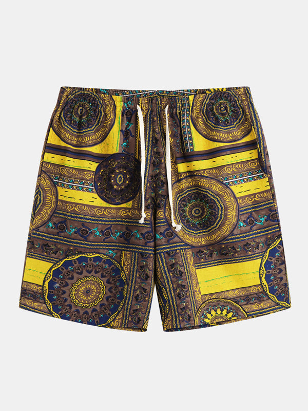 Men Printed Summer Beach Shorts