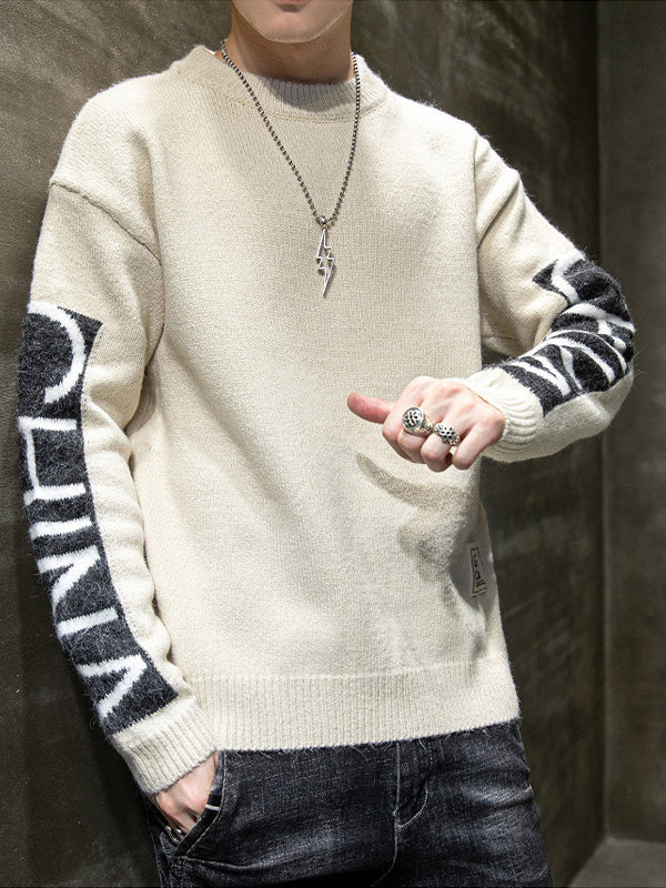 Men's Round Neck Pullover Sweater