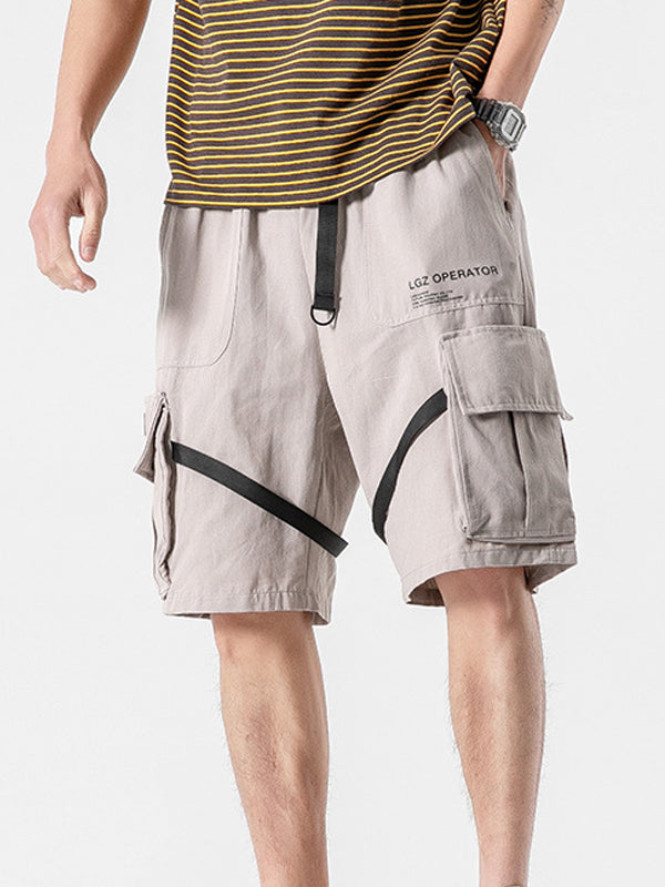 Men Casual Plus Size Overalls Casual Shorts